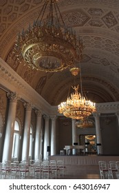 St.Petersburg, Russia - March 12, 2017: The luxurious interior in the Palace of the Yusupovs on the Moika.