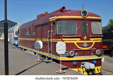 ST.PETERSBURG, RUSSIA - MAY 11, 2016:  Passenger locomotive TEP 60-0190 in the railway Museum in the former Warsaw station in St. Petersburg