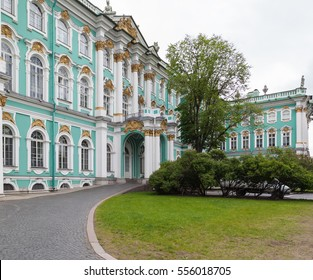 ST.PETERSBURG, RUSSIA - MAY 19, 2016: Winter Palace in Saint Petersburg, Russia The Winter Palace was the official residence of the Russian monarchs from 1732 to 1917.