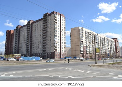 ST.PETERSBURG, RUSSIA - MAY 2, 2013: Modern residential building on the outskirts of St. Petersburg, Russia.