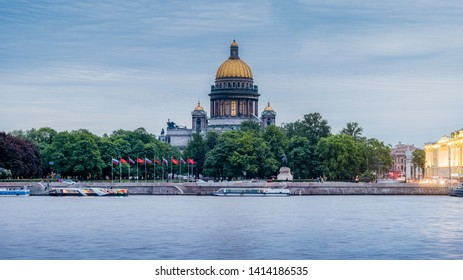 ST.PETERSBURG, RUSSIA, MAY 24, 2019-St Isaac's Cathedral is one of the most famous attractions in St Petersburg - St. Petersburg, Russia