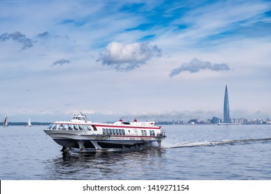 ST.PETERSBURG, RUSSIA, MAY 25, 2019-The Lakhta Center in St. Petersburg has Europe's tallest skyscraper - St. Petersburg, Russia