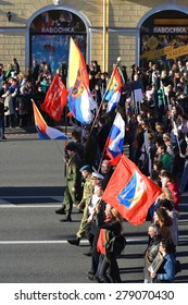 "ST.PETERSBURG, RUSSIA: - MAY 9, 2015: The action ""Immortal regiment"" on Victory parade. The celebration of 70 anniversary of Victory in the Great Patriotic War."