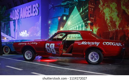 St.Petersburg / Russian Federation - circa May 2018: Route 66 Museum. Holywood auto legends