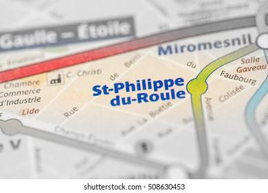 St-Philippe du-Roule Station. 9th Line. Paris. France