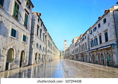 Strada of Dubrovnik. The Strada is the main shopping street and
