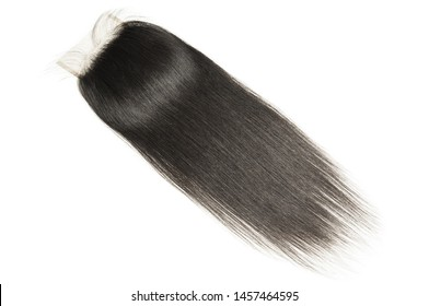 Straight black human hair weaves extensions lace closure