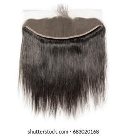 Straight black virgin human hair wide range lace frontal