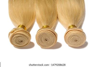 straight bleached blonde human hair weaves extensions bundles