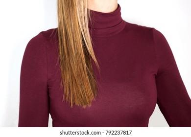 straight blond hair