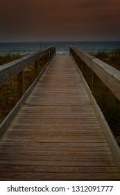 Straight boardwalk to Atlantic Beach, Florida