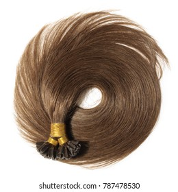 Straight Dyed Brown Keratin Pre-Bonded Stick Human Hair Extensions