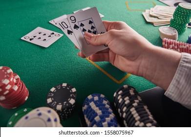 Straight flush, player holds. Casino, Winning combination