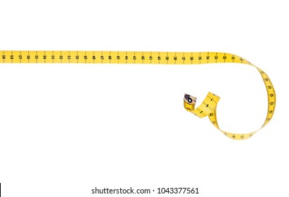 Straight line fabric tape measure with curl.
