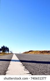 Straight road.