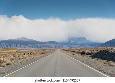 straight road to the mountain, Argentina, Patagonia