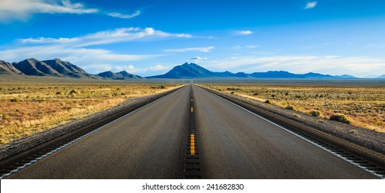 Straight road in Nevada