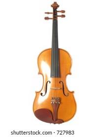 straight shot of a violin