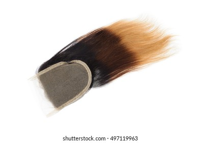 straight three tone ombre  black brown  blonde virgin  remy human hair lace closures for wigs