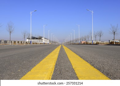 Straight urban roads