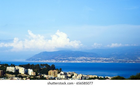 The Strait of Messina, (Stretto di Messina, lat. Fretum Siculum) is the narrow passage between eastern tip of Sicily and the western tip of Calabria. The Strait of Messina, a narrowest point of Italy.