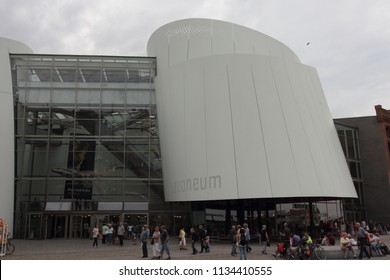 Stralsund, Germany August 1, 2017: Ozeaneum is a public aquarium in the German city of Stralsund. It is a main attraction of the German Oceanographic Museum (Deutsches Meeresmuseum), arguably one of t