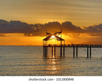 Strand Jetty, Townsville, North Queensland Australia at sunrise