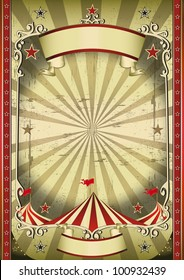 Strange circus. A circus background for your dark show !