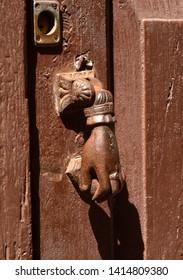 strange door knocker. la laguna. tenerife