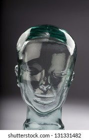 Strange glass head.