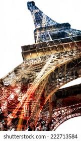 a strange pop Eiffel Tower, Symbol of Paris