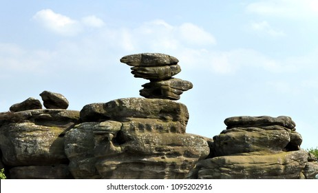 Strange rock formations on the North Yorkshire landscape, Brimham Rocks, England
