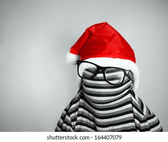 Santa Baseball Cap Mysterious Tribal Mask Christmas Caps Red