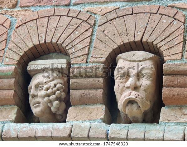 Strange sculpures of Mythological creatures.