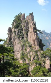 Strange stones and beautiful landscape in Huangshan Mountain, Huangshan City, Anhui Province, China.