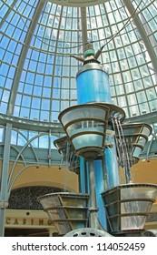 Strange water clock in a casino
