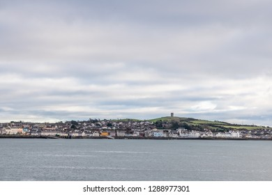 Strangford lough and Portaferry village, Northern Ireland, UK