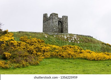 Strangford, Northern Ireland. Audley's Castle at Castle Ward, a famous filming location for fantasy TV shows