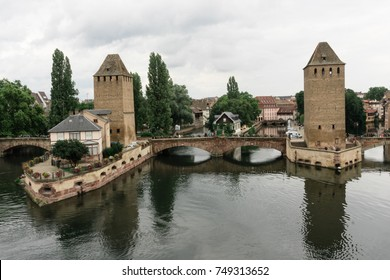 Strasbourg barrage vauban near a canal in France.