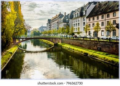 Strasbourg canals in autumn light