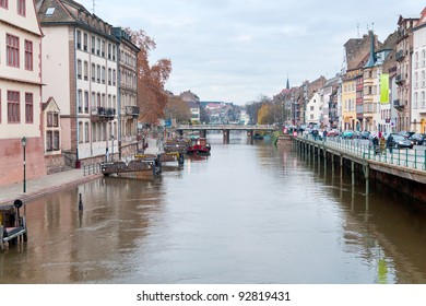 STRASBOURG - DECEMBER 11: bridge on Ill river canal in old town. Historic city centre Grand Island was classified a World Heritage site by UNESCO in 1988, Strasbourg, France on December 11, 2011