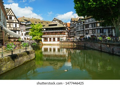STRASBOURG, FRANCE - 24 June 2019: Strasbourg petite FRance area in the old town