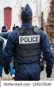 Strasbourg - France - 24 November 2018 -  police patrol at christmas market