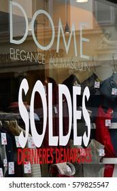 Strasbourg, France - july 22 2016 : sales in a shop