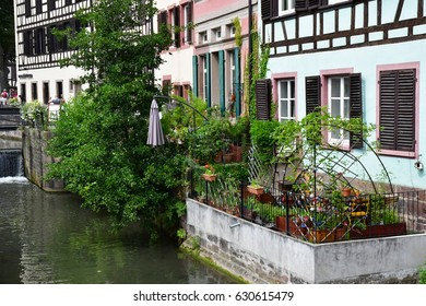 Strasbourg, France - july 22 2016 : the picturesque city center in summer