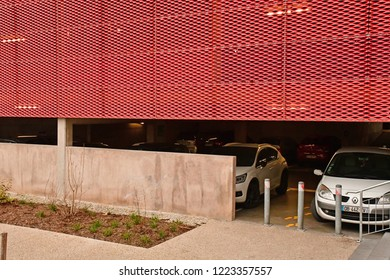 Strasbourg; France - mach 3 2017 : car park in the Neudorf district