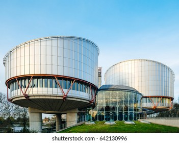 STRASBOURG, FRANCE - MAR 31, 2017: European Court of Human Rights in Strasbourg building - Rule of law for European countries