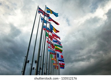 STRASBOURG, FRANCE - MARCH 20: Exterior of the European Parliament of Strasbourg, France on 20 March 2013. All votes of the European Parliament must take place in Strasbourg, France.