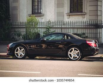 similar images stock photos vectors of detail car entering through garage door 425911444. Black Bedroom Furniture Sets. Home Design Ideas