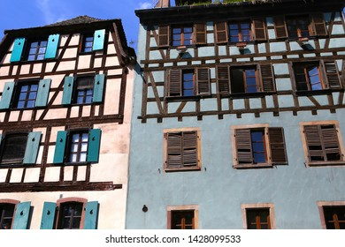 STRASBOURG, FRANCE, SEPTEMBER 04,  2018 : houses of the old city petite france, september 04, 2018, in  Strasbourg, France